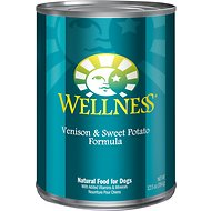 Wellness Complete Health Venison & Sweet Potato Formula Canned Dog Food, 12.5-oz, case of 12