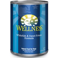 Wellness Complete Health Whitefish & Sweet Potato Formula Canned Dog Food, 12.5-oz, case of 12