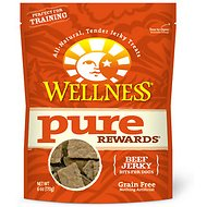Wellness Pure Rewards Grain-Free Beef Jerky Bits Dog Treats, 6-oz