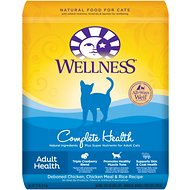 Wellness Complete Health Adult Health Deboned Chicken, Chicken Meal & Rice Recipe Dry Cat Food, 12-lb bag