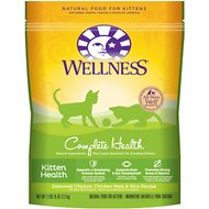 Wellness Complete Health Kitten Health Deboned Chicken, Chicken Meal & Rice Recipe Dry Cat Food, 2.9-lb bag