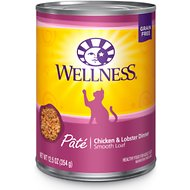 Wellness Complete Health Chicken & Lobster Formula Canned Cat Food, 12.5-oz, case of 12