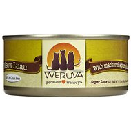 Weruva Meow Luau with Mackerel & Pumpkin Grain-Free Canned Cat Food, 5.5-oz, case of 24