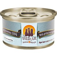 Weruva Polynesian BBQ with Grilled Red Bigeye Grain-Free Canned Cat Food, 3-oz, case of 24