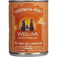 Weruva Kurobuta Hero Organic Turkey Formula with Kurobuta Pork Canned Dog Food, 12.8-oz, case of 12
