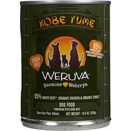Weruva Kobe Yume Kobe Beef Formula with Organic Chicken & Organic Turkey Grain-Free Canned Dog Food, 12.8-oz, case of 12