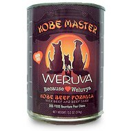 Weruva Kobe Master Kobe Beef Formula Canned Dog Food, 12.8-oz, case of 12