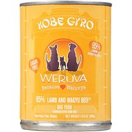 Weruva Kobe Gyro Lamb & Wagyu Beef Formula Canned Dog Food, 12.8-oz, case of 12