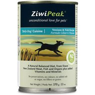 ZiwiPeak Daily-Dog Cuisine Venison & Fish Grain-Free Canned Dog Food, 13-oz, case of 12