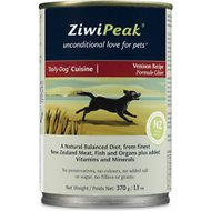 ZiwiPeak Venison Recipe Canned Dog Food , 13-oz, case of 12