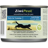 ZiwiPeak Daily-Cat Cuisine Lamb Grain-Free Canned Cat Food, 6-oz, case of 12