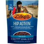 Zuke's Hip Action Roasted Beef Recipe Dog Treats, 1-lb bag