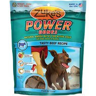 Zuke's Power Bones Tasty Beef Recipe Dog Treats, 6-oz