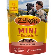 Zuke's Mini Naturals Savory Salmon Recipe Dog Treats, 1-lb bag