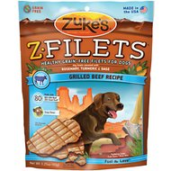 Zuke's Z-Filets Grilled Beef Recipe Grain-Free Dog Treats, 3.25-oz