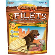 Zuke's Z-Filets Grilled Chicken Recipe Grain-Free Dog Treats, 3.25-oz