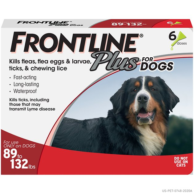 Frontline Plus Flea Tick Treatment For Dogs 89 132 Lbs 6