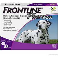 FRONTLINE Plus Flea & Tick Treatment for Dogs, 45-88 lbs, 6 treatments