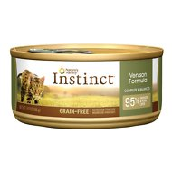 Nature's Variety Instinct Grain-Free Venison Formula Canned Cat Food, 5.5-oz, case of 12