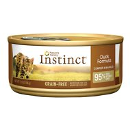 Nature's Variety Instinct Grain-Free Duck Formula Canned Cat Food, 5.5-oz, case of 12