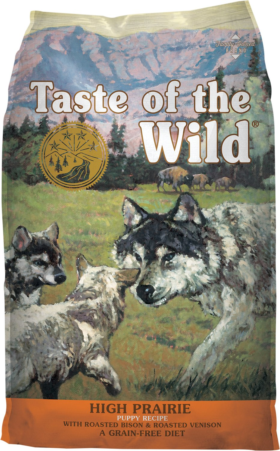 Taste Of The Wild Dog Food Reviews >> Taste of the Wild High Prairie Puppy Formula Grain-Free Dry Dog Food, 5-lb bag - Chewy.com