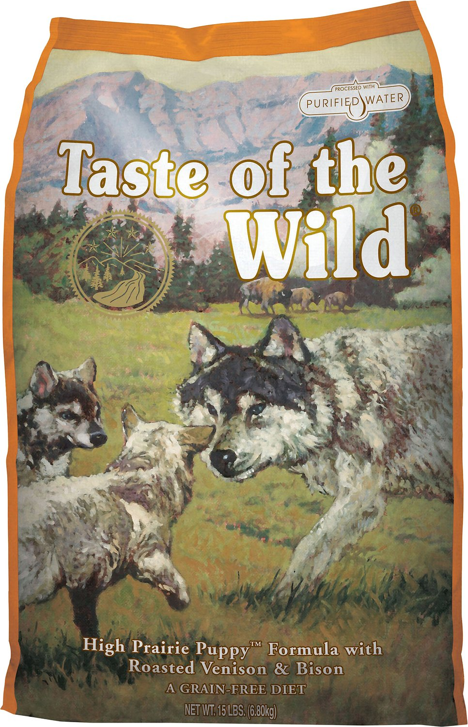 Taste Of The Wild Dog Food Reviews >> Taste of the Wild High Prairie Puppy Formula Grain-Free Dry Dog Food, 30-lb bag - Chewy.com