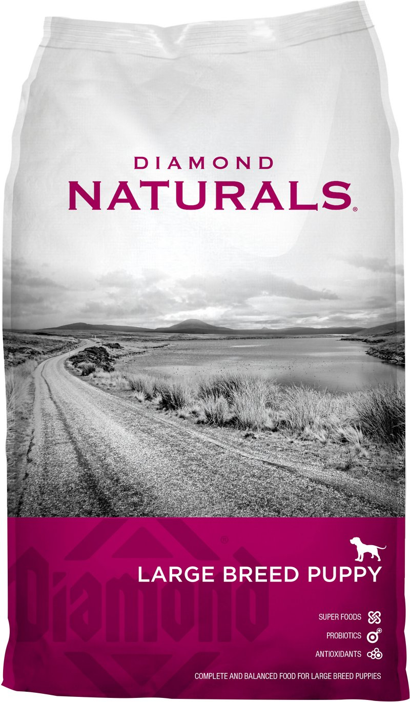 Puppy Diamond Dog Food >> Diamond Naturals Large Breed Puppy Formula Dry Dog Food, 40-lb bag - Chewy.com