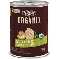 Castor & Pollux Organix Turkey & Vegetable Recipe All Life Stages Canned Dog Food, 12.7-oz, case of 12