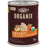 Castor & Pollux Organix Turkey, Carrot & Potato Recipe All Life Stages Canned Dog Food, 12.7-oz, case of 12
