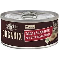 Castor & Pollux Organix Turkey & Salmon Recipe Adult Canned Cat Food, 5.5-oz, case of 24