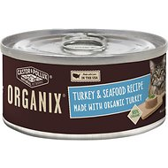 Castor & Pollux Organix Turkey & Seafood Recipe Adult Canned Cat Food, 3-oz, case of 24