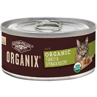 Castor & Pollux Organix Turkey & Spinach Recipe Adult Canned Cat Food, 5.5-oz, case of 24