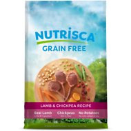 Nutrisca Grain-Free Lamb & Chickpea Recipe Dry Dog Food, 28-lb bag