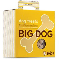Sojos Big Dog Biscuits & Gravy Flavor Dog Treats, 12-oz box