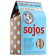 Sojos Bacon Cheddar Flavor Dog Treats, 10-oz bag