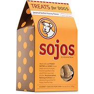 Sojos Peanut Butter Honey Flavor Dog Treats, 10-oz box