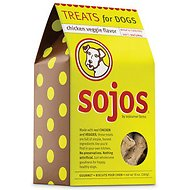 Sojos Chicken Veggie Flavor Dog Treats, 10-oz box