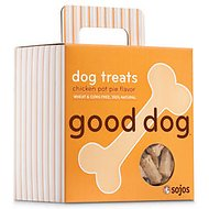 Sojos Good Dog Crunchy Natural Chicken Pot Pie Flavor Dog Treats, 8-oz box