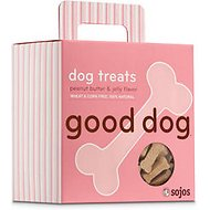 Sojos Good Dog Peanut Butter & Jelly Flavor Dog Treats, 8-oz box