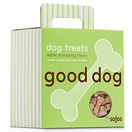 Sojos Good Dog Apple Dumpling Flavor Dog Treats, 8-oz box