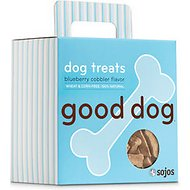 Sojos Good Dog Crunchy Natural Blueberry Cobbler Flavor Dog Treats, 8-oz box