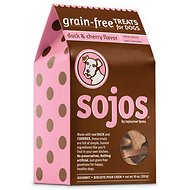 Sojos Grain-Free Duck & Cherry Flavor Dog Treats, 10-oz box