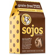 Sojos Grain-Free Lamb & Sweet Potato Flavor Dog Treats, 10-oz box