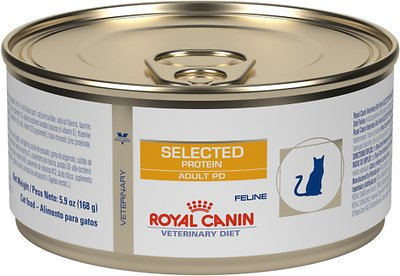 7. Royal Canin Veterinary Diet PD Selected Protein Canned Food for Adult Cats
