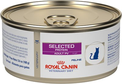8. Royal Canin Veterinary Diet PV Selected Protein Canned Food for Adult Cats