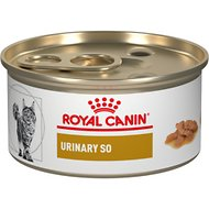 Royal Canin Veterinary Diet Urinary SO Morsels in Gravy Canned Cat Food, 3-oz, case of 24