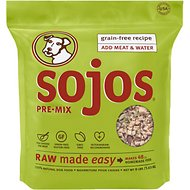 Sojos Pre-Mix Grain-Free Recipe Freeze-Dried Dog Food Mix, 8-lb bag