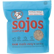 Sojos Complete Turkey Recipe Grain-Free Freeze-Dried Dog Food, 8-lb bag