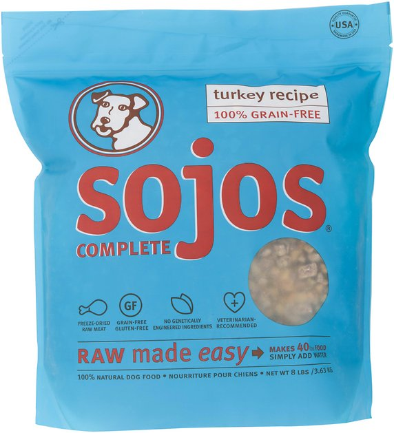 Sojos Complete Turkey Recipe Grain Free Freeze Dried Dog Food  Lb Bag