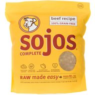 Sojos Complete Beef Recipe Adult Grain-Free Freeze-Dried Dog Food, 8-lb bag